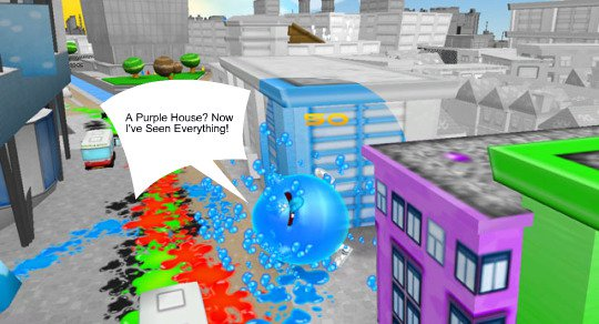 de Blob the video game: the World of Sama ain't Chroma City!